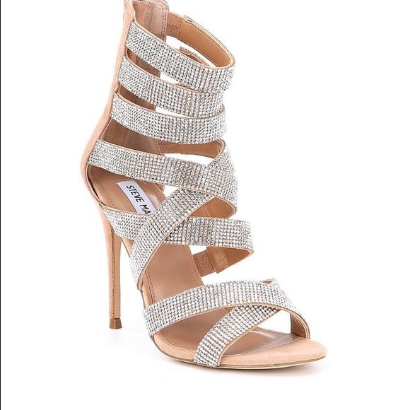 3f8ce7eca9a33c Steve Madden Malika Rhinestone Jeweled Shoes. M 5b93639274359b36c8e6bf47
